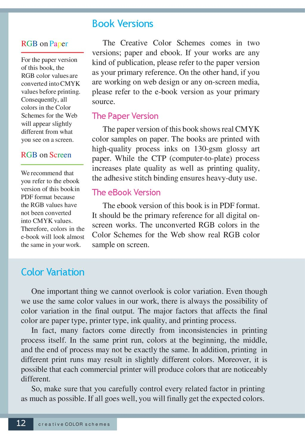 Creative Color Schemes Pdf
